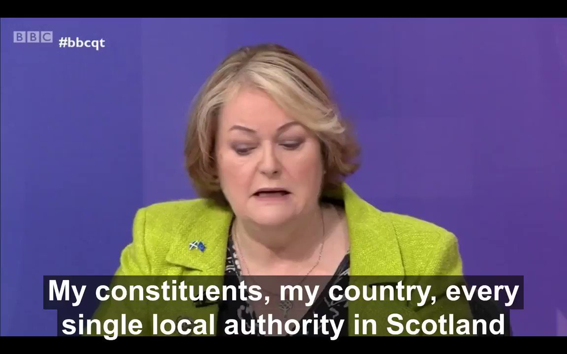 My job is to stand up for my constituents - simples #bbcqt