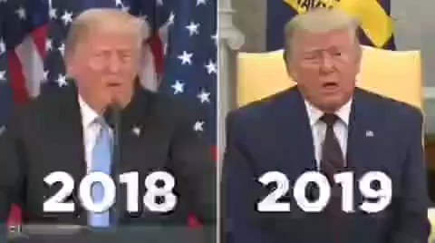 The ever changing faces of #Trump.  Via the @TheDailyShow.   #Turkey #Syria #Kurds