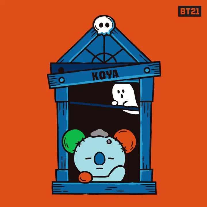 Spooktober is approaching!Be prepared to get booed 👻#Boo #Halloween #Scary #KOYA #RJ #SHOOKY #MANG #CHIMMY #TATA #COOKY #VAN #BT21