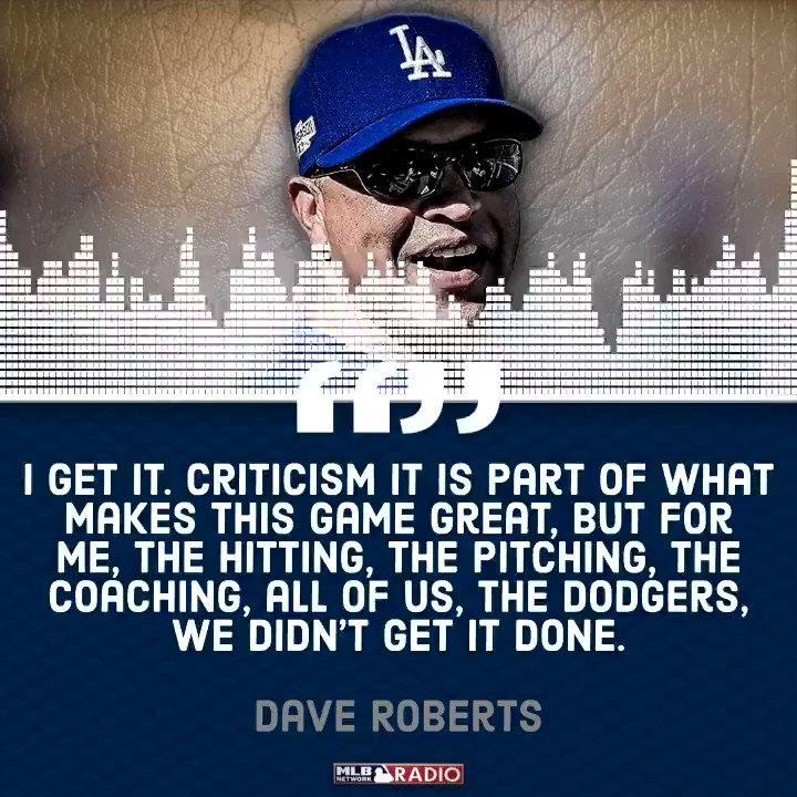 More #DaveRoberts on #DODGERS early #NLDS exit Courtesy of MLB Network Radio on SiriusXM. #AndrewFriedman #StanKasten