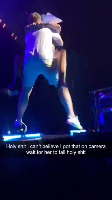 Lady Gaga Fell Off Stage While Dancing With A Fan And The Video Is A Wild Ride From Start To Finish