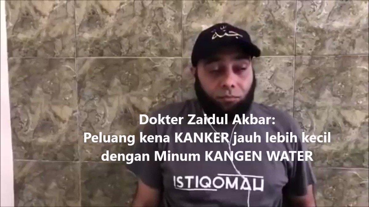 dokter #zaidulakbar:#KangenWater solusi cegah dan atasi #Kanker, #autoimun & #Penyakitkronis