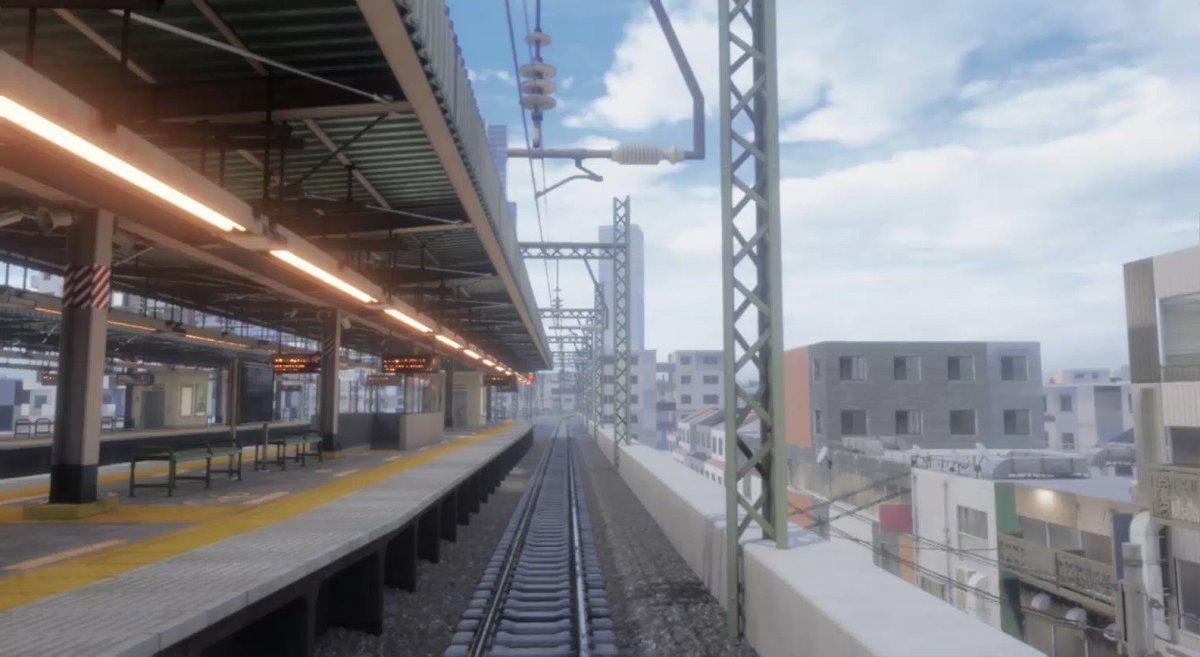 日本ぽい風景てあまり何もしなくてもアニメっぽく見える説。リアルタイム3Dアニメ背景を個人研究中。