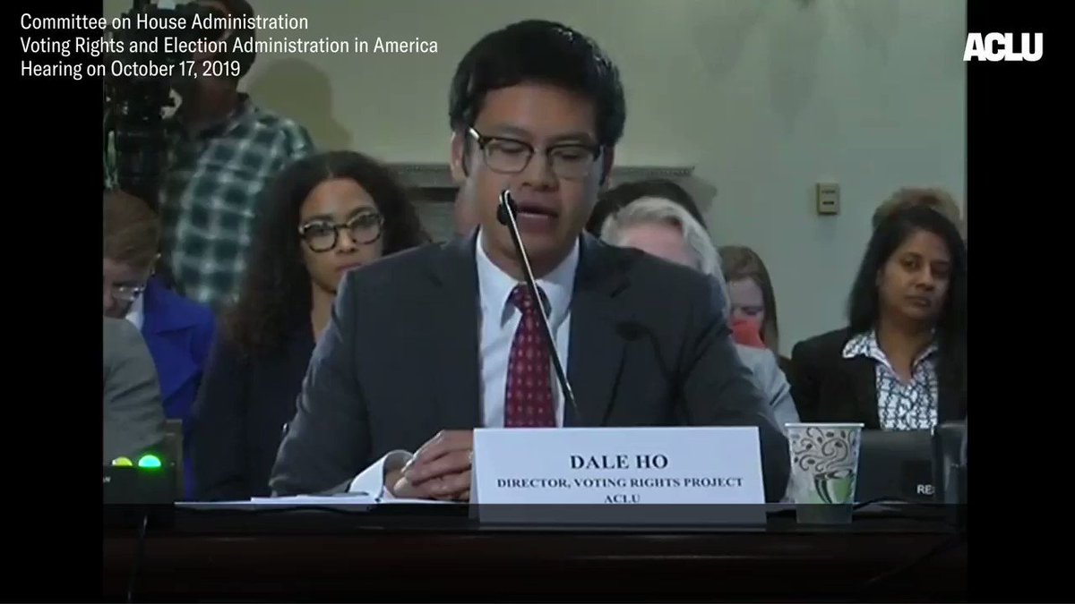Yesterday, our Voting Rights Director @dale_e_ho testified to Congress about voting restrictions based on lies that noncitizens register to vote in significant numbers.  Here's some of what Dale had to say: https://t.co/atDJzWH8BH