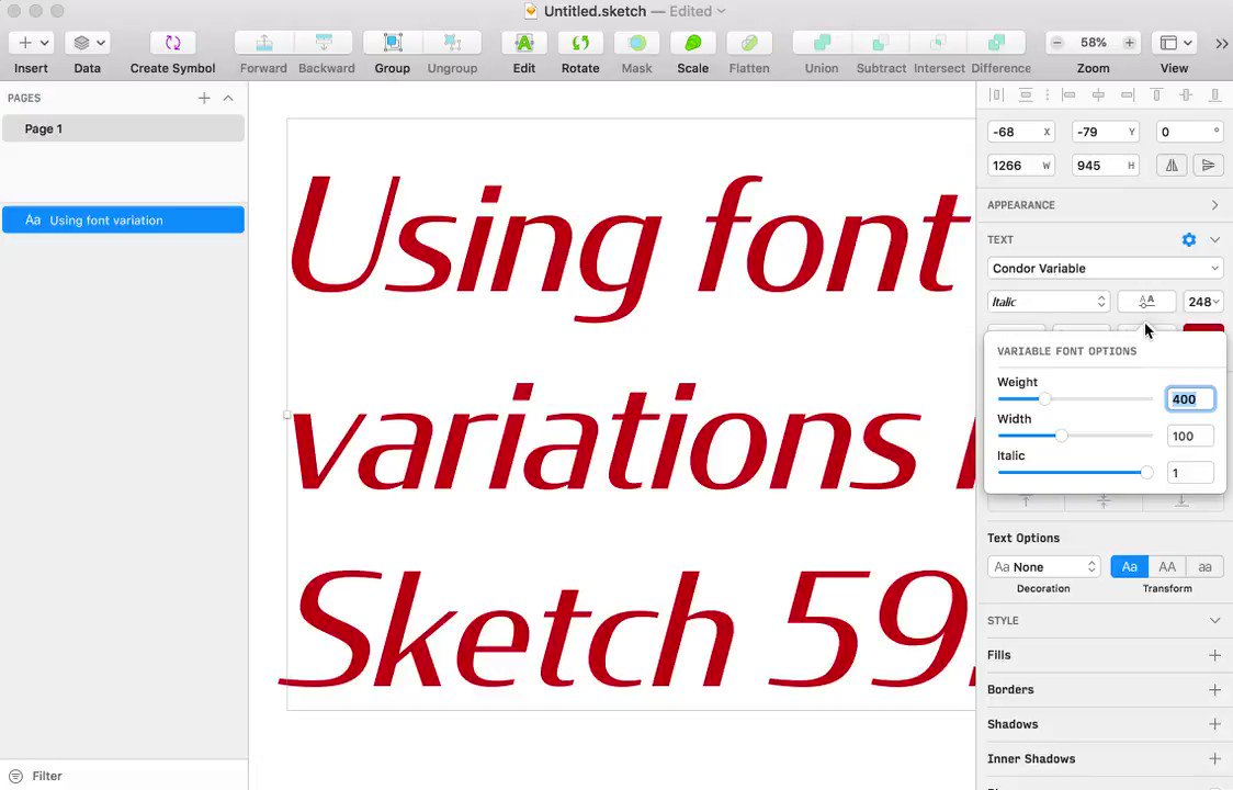 With this week's announcement of #variablefonts support in @sketch, I've been excited to use it as a playground for my in-progress variable fonts! https://djr.com/notes/sketch-supports-variable-fonts/ …pic.twitter.com/FcA6tk1ugf