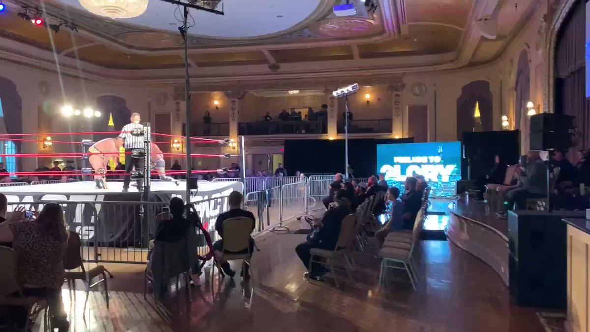 .@IMPACTWRESTLING's #PreludeToGlory, presented by @WrestlingTravel, kicks off its pre-show with a win by @THEBIGACEY! https://t.co/51TJ5vEOVC