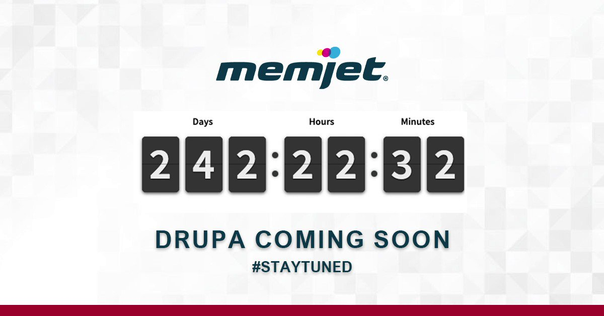 Image for the Tweet beginning: The countdown to #Drupa is