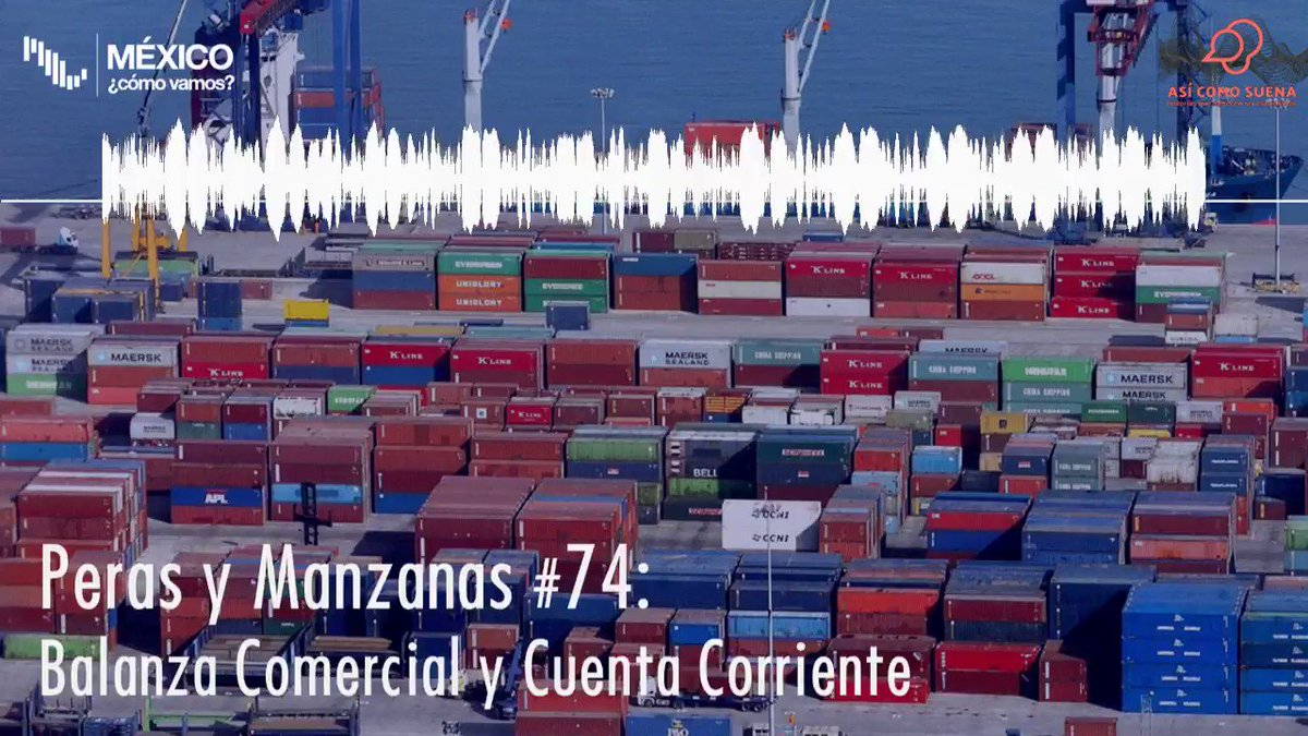 ¿Ya escuchaste el #PerasyManzanas 🍐🍎 sobre la balanza comercial? @ValeriaMoy platicó esta semana con @eledece y @morenobrid sobre qué es, por qué importa, y qué nos dice sobre la economía mexicana. Puedes encontrarlo en @asicomosuenamx, Itunes o Spotify: http://bit.ly/perasymanzana