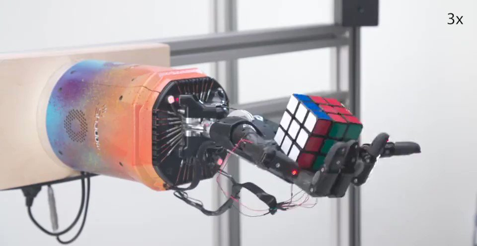 A robot hand taught itself to solve a Rubik's Cube after creating its own training regime.