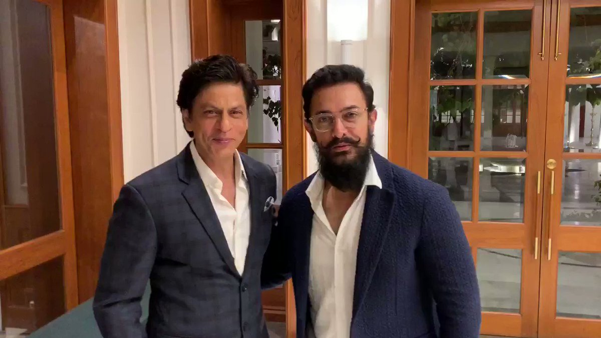 It was a wonderful interaction, says @aamir_khan. A great way to involve everyone, says @iamsrk. Two top film personalities talk about the meeting with PM @narendramodi. Watch this one...