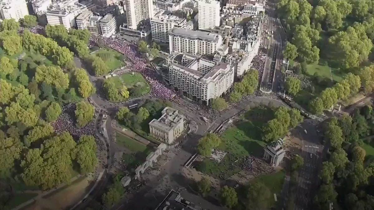 The aerial footage is quite something of the #peoplesvotemarch