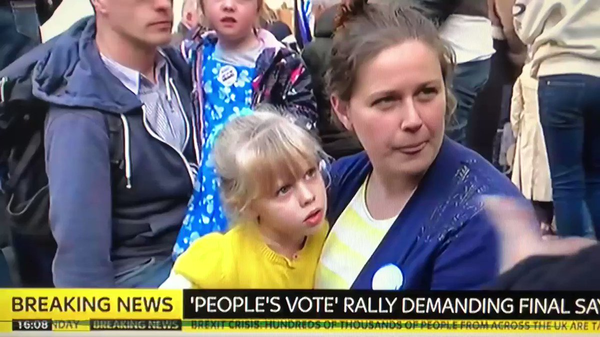 Brilliant demolition of Brexit on live TV. You'd never see this on a BBC vox pop. Rachel in Parliament Square tells it like it is at the #PeoplesVoteMarch.