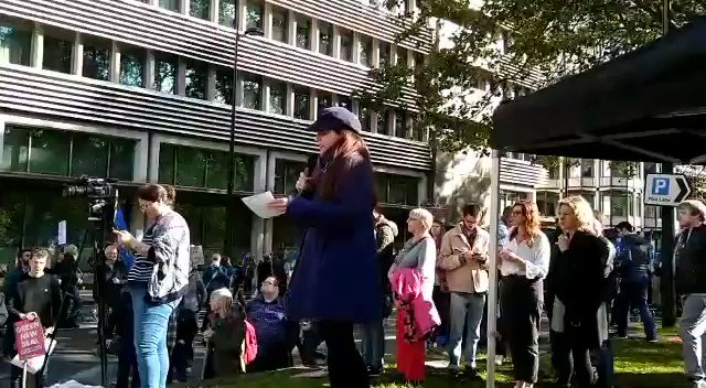 Speaking from the #PeoplesVoteMarch on how Boris Johnson is undermining our democracy. We will not be silent until we have won.