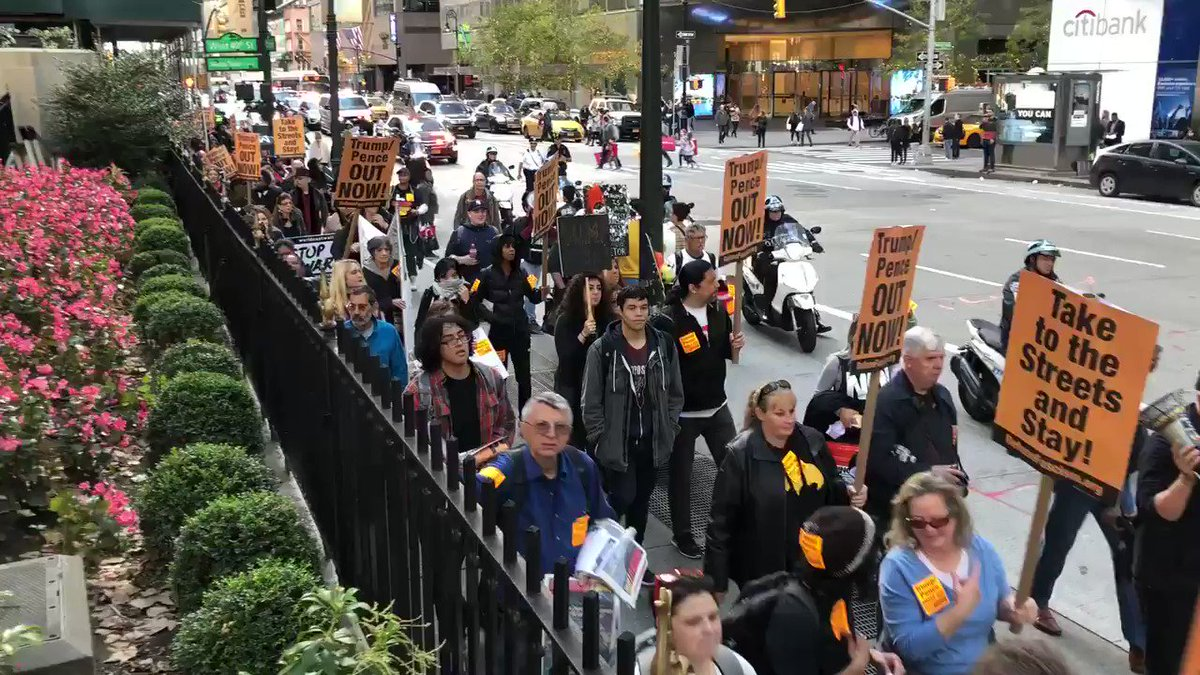 Fifth Avenue right now: New York is marching to demand immediate impeachment.