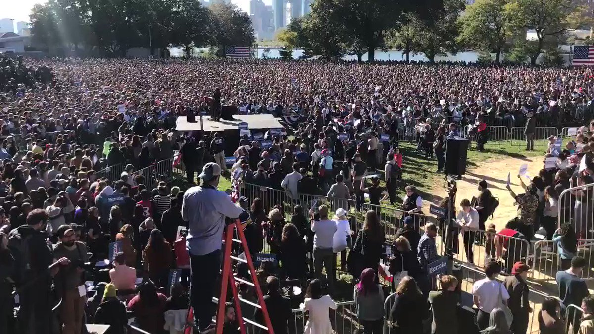 I bet Wall Street and the corporations can hear us now! 25,000+ @AOC @BernieSanders #BerniesBack #NotMeUs
