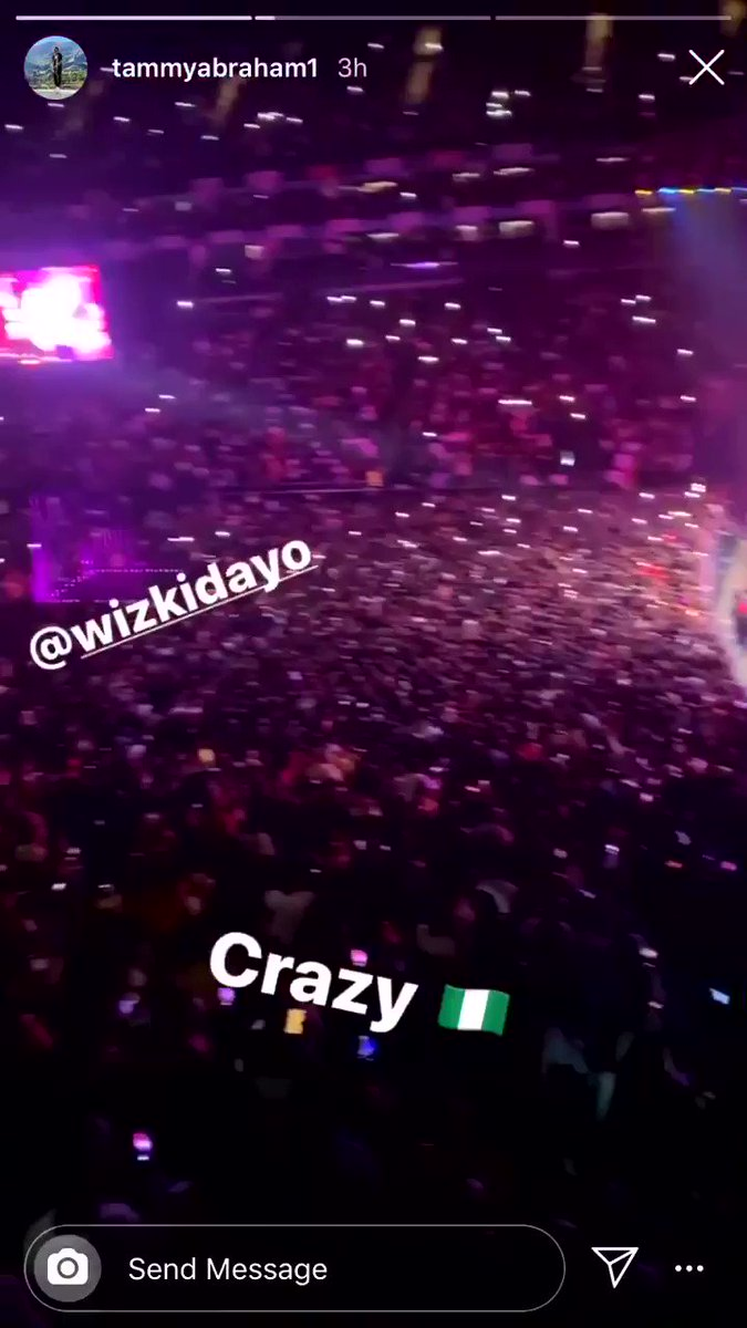 Tammy Abraham of Chelsea came out to support Wizkid #starboyfest
