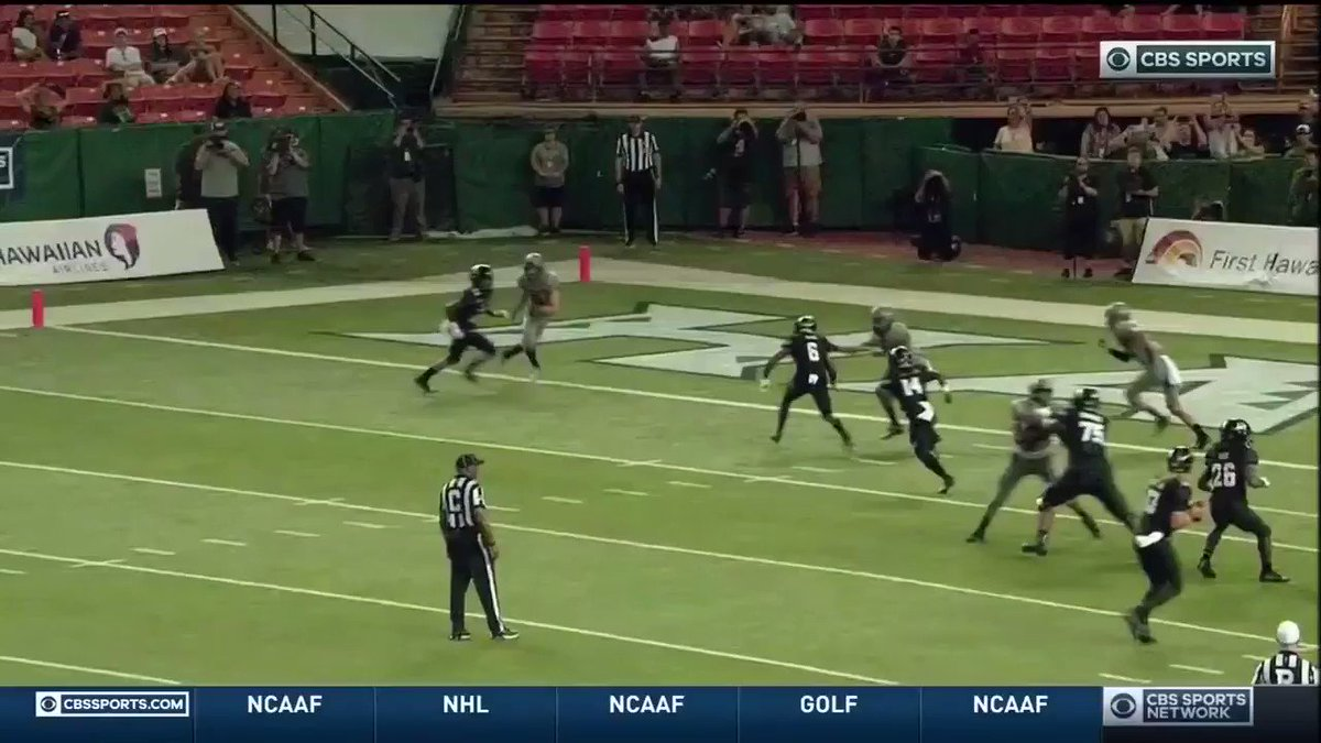 Insane pick by Air Force that ended as a TD
