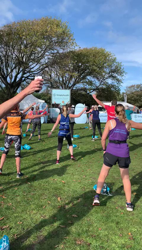 Great to see so many runners joining us at our stretch zone today! #GreatSouthRun