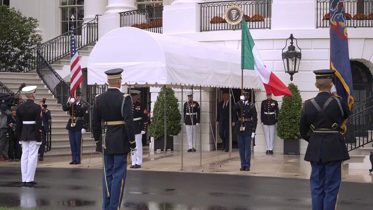 Image for the Tweet beginning: President @realDonaldTrump and President Mattarella