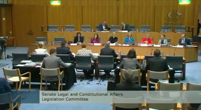 You havent turned your mind to the fact that every newspaper in the country looks like its been redacted? @KKeneally grills new AFP Commissioner Reece Kershaw on his awareness of the #righttoknow campaign in #estimates