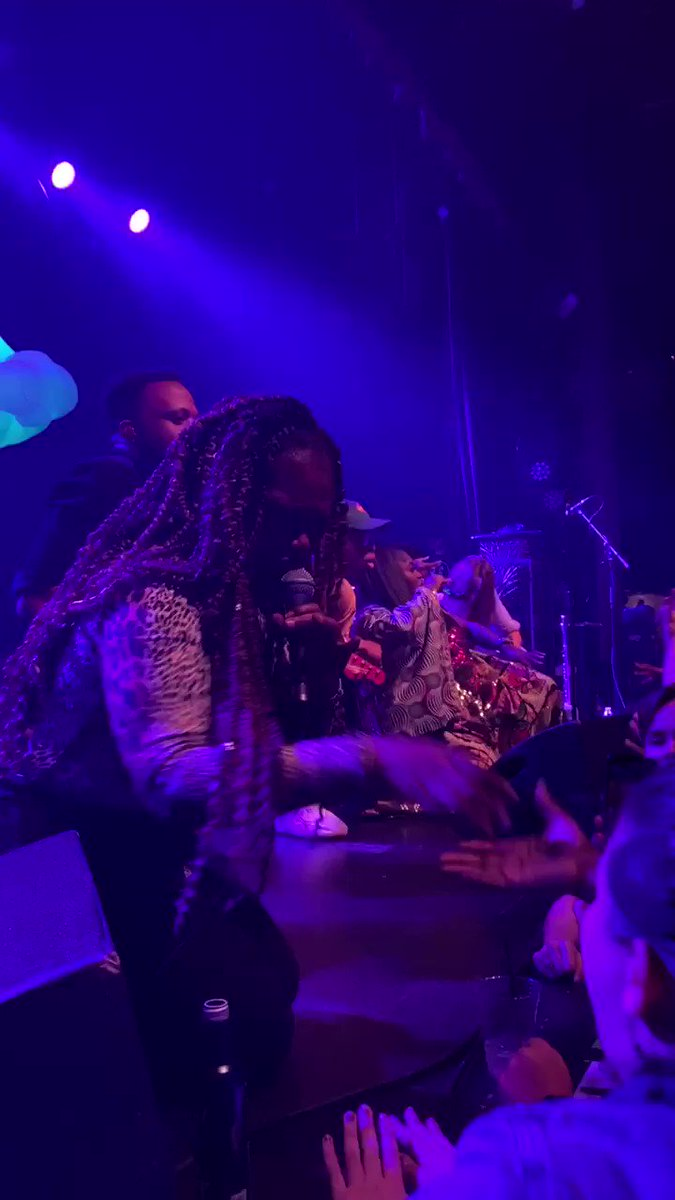 The exact moment I hurt my neck from head banging. Thank you, @TankandDaBangas Always fulfilling.