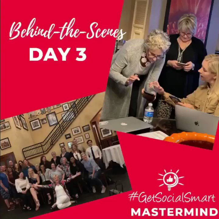 In our Vegas Mastermind last week, I challenged our attendees to push themselves out of their comfort zone to create their 12-month 2020 content and social media plan. Here's a sneak- peek into our last day! @Bellagio #getsocialsmart
