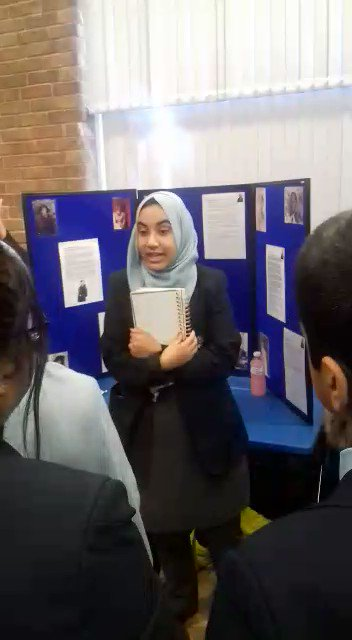 Image for the Tweet beginning: Our year 10 students giving