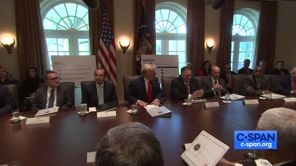 Ben Carson opens Cabinet meeting with a ridiculous prayer:😖🤢 We thank you for President Donald Trump...give him strength to endure and the wisdom to lead and to recognize you as the sovereign of the universe, with the solution to everything.
