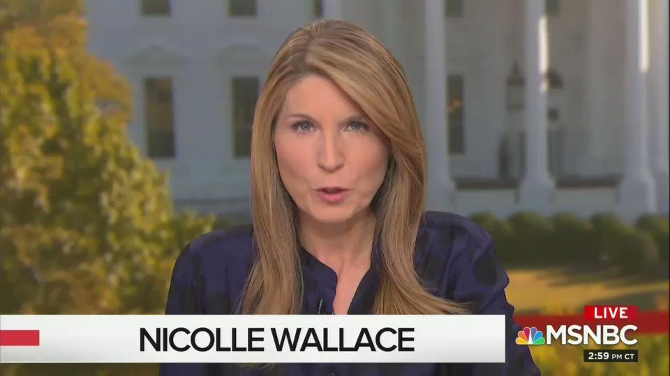 Nicolle Wallace said that Trump has been informed by associates that he will be impeached.