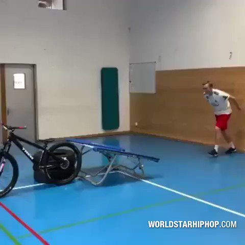 Dude created his own obstacle course