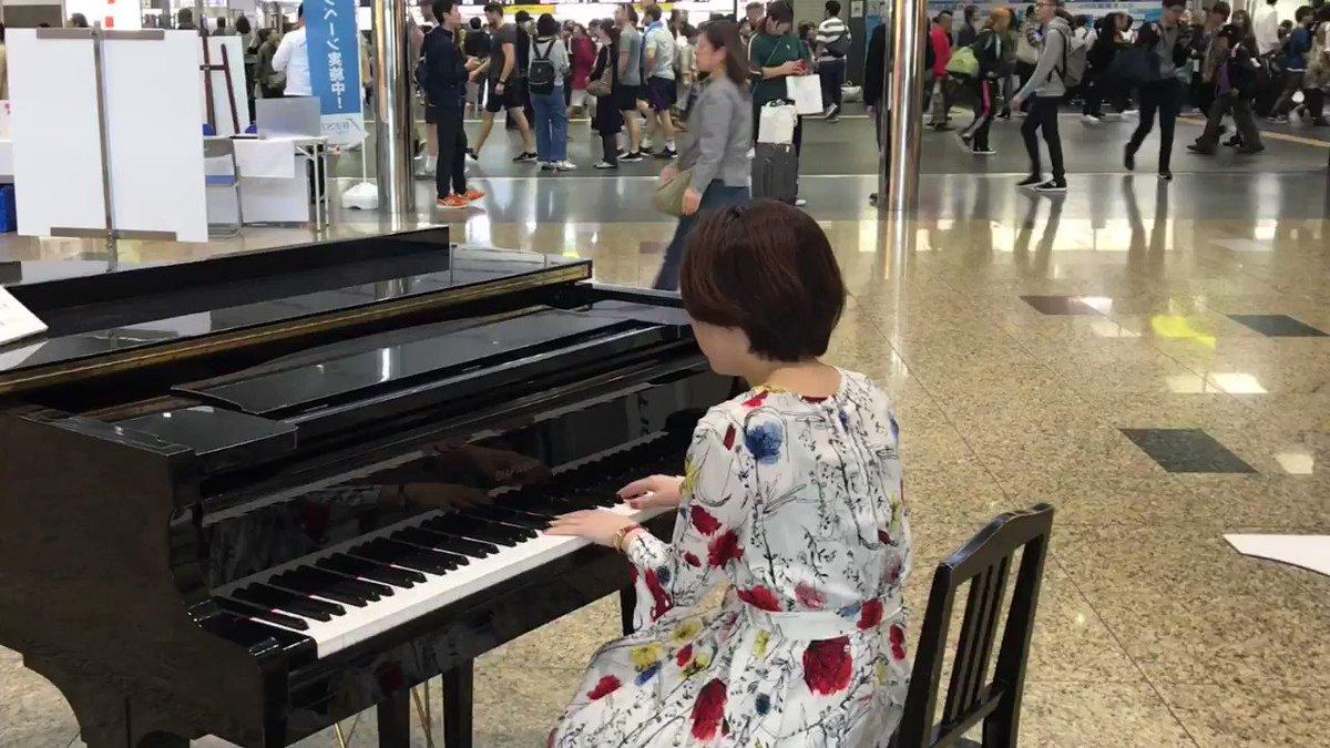 京都駅に寄れたので、ゲリラ駅ピアノしてきました!  お客さんゼロからのスタート、、  出くわしてくださった皆様、おおきに ♥️   「千本桜」  ※早送りしてます  #駅ピアノ #京都駅 #ストリートピアノ #千本桜