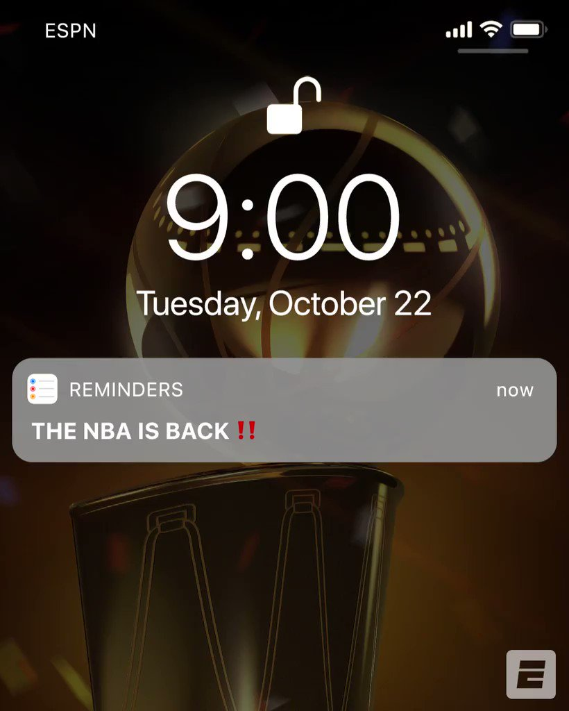 *Incoming notification* 📲 THE NBA IS BACK ‼️