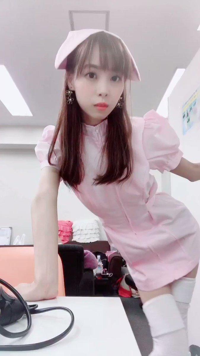 ✩°。⋆やっと着ました💕プレゼントで頂いたナース服💉似合いますか?(*╹▽╹*)✩.*˚#グラドル自画撮り部 #東京Lily #10秒グラビア #10秒美脚グラビア #ナース #スレンダーボディ
