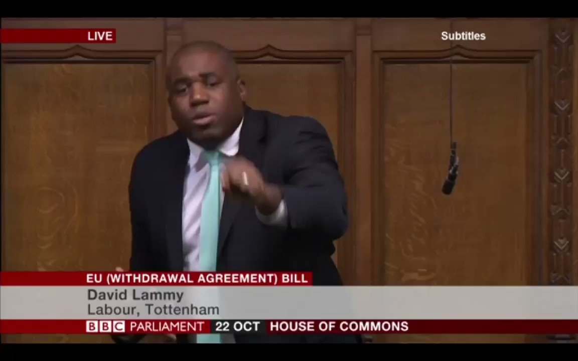 Image for the Tweet beginning: David Lammy - On the