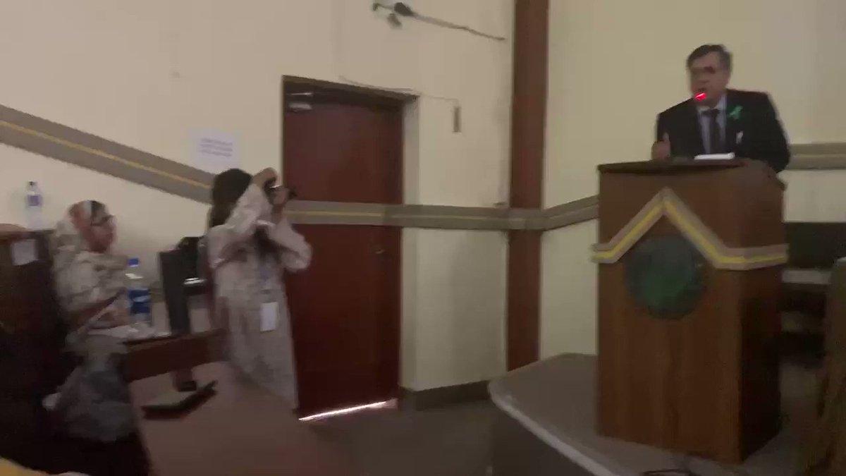 Addressing #WMHD2019 program - Youth Ambassadors of Life & Hope at @uokedupk with VC uok.edu.pk, Khalid Anam, @rezzvi etc. #YOUTH #SuicidePrevention #mentalhealth #PPS #UniversityofKarachi