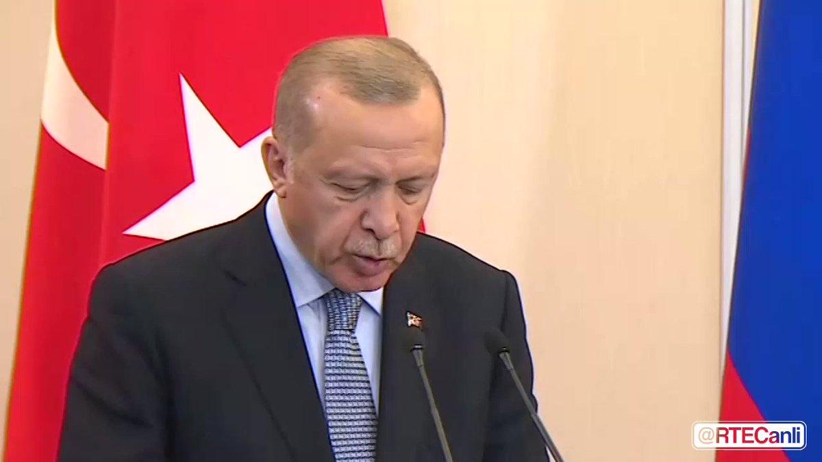 """Cumhurbaşkanımız Sn. @RTErdogan """"Barış Pınarı Harekatı Suriyenin toprak bütünlüğünü garanti altına almaktır. Bizim hiçbir zaman başka bir ülkenin egemenliğinde gözümüz yoktur. """" #TurkeyWon"""