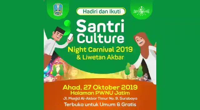 Pertama di Indonesia.  Saksikan kesakralannya dan kehebohanya. Santri Culture Night Carnival SCNC Ahad, 27 oktober 2019 pukul 19.00 wib  #resolusijihad  #khhasyimasyari  #tebuireng  #santri  #HariSantri  #HariSantri2019  #harisantrinasional  #HariSantriNasional2019