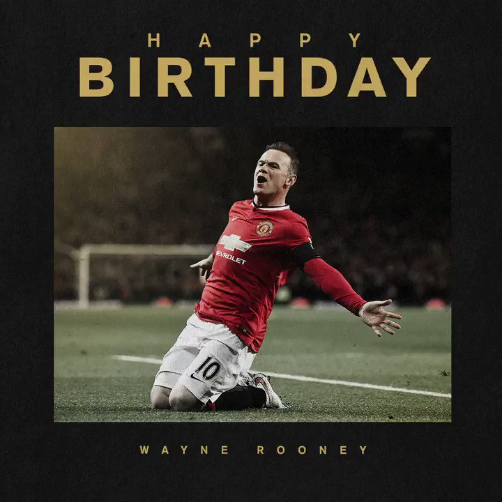 Best wishes to our all-time record goalscorer and #MUFC legend, @WayneRooney! 🥳