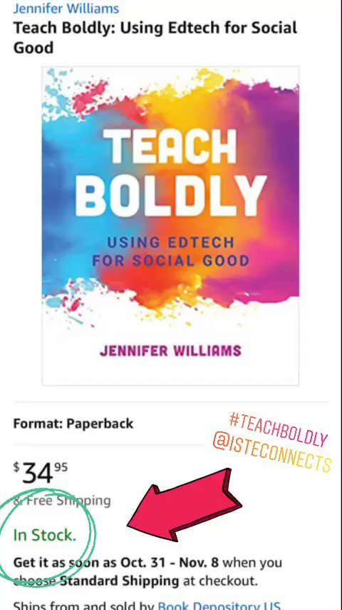 Today is the day! 💙💛🧡❤️💜 #TeachBoldly now available!!!! bit.ly/teachboldly @amazon
