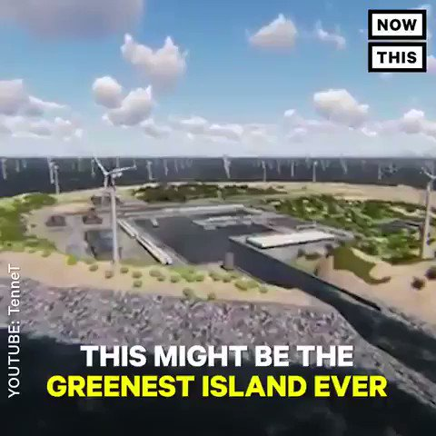 Germany, Denmark and The Netherlands are building an island to house 7,000 wind turbines. It could provide electricity for 80 million Europeans. We have solutions, implement them. #ActOnClimate #climate #energy #innovation #renewables #GreenNewDeal #PanelsNotPipelines