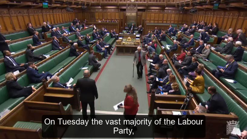 Labour, the Lib Dems, and the SNP all voted against sovereignty and the clause to protect UK interests from destructive EU legislation