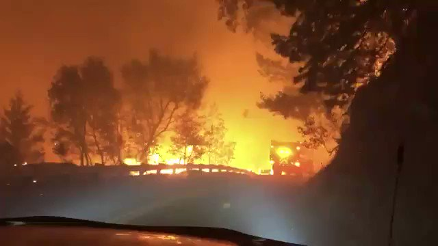 #KincadeFire is now 10,000 acres in size and continues to burn uncontrollably. Over 1,700 people are under mandatory evacuation. Thoughts with everyone affected. The planets in trouble. #ActOnClimate #climate #energy #go100re #greennewdeal