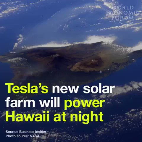 Tesla is supplying the island of Hawaii with 54,978 #solar panels, hooked up to 272 power packs to help provide 24 hr #solarenergy. We have solutions to the #climate crisis, lets implement them. #ActOnClimate #energy #cdnpoli #climatesurvival #greennewdeal #panelsnotpipelines