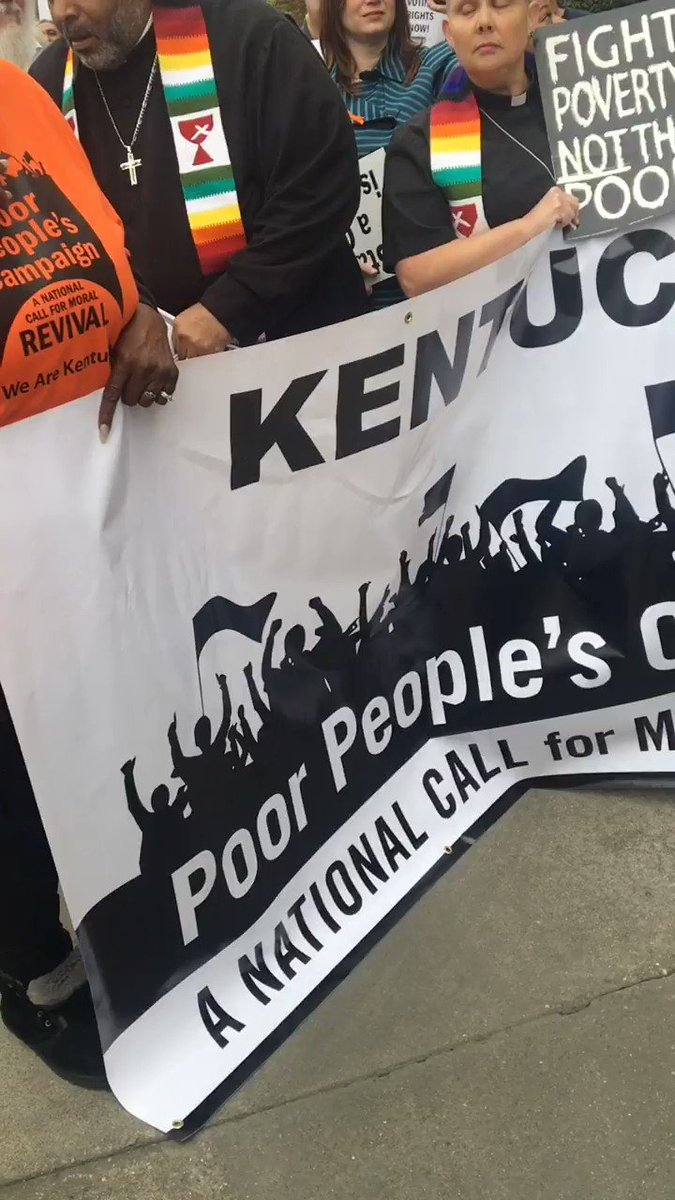 The #PoorPeoplesCampaign is being refused entrance to @senatemajldr Mitch McConnell's office.