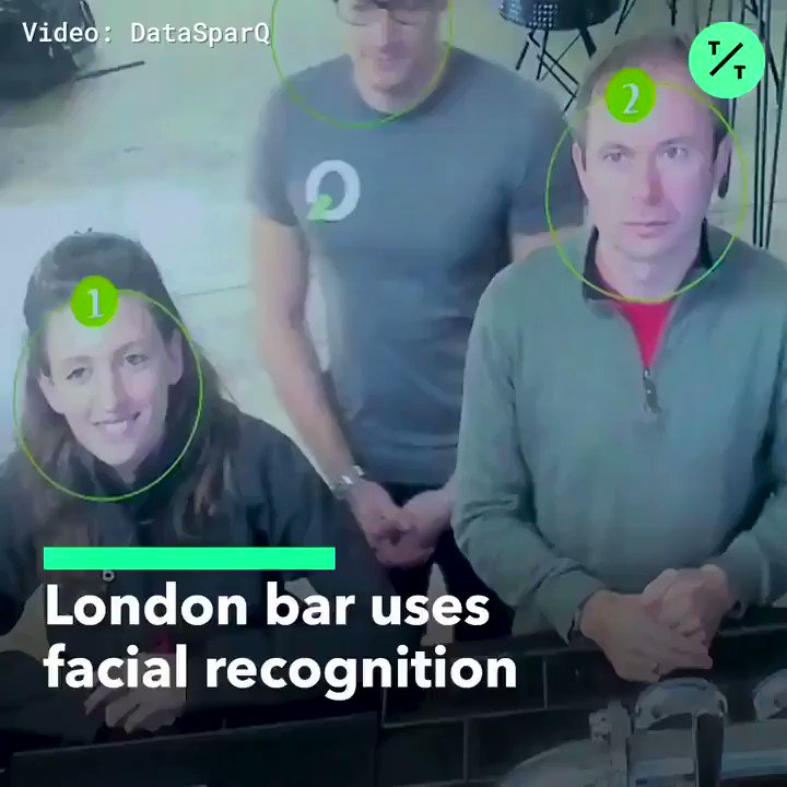 This London bar is using facial recognition to create customer queues on a first-come-first-serve basis! 📸🍺  #technology #Engineering #innovation #privacy #facialrecognition #AI #ML #AR #IoT #China #BigData #MachineLearning https://t.co/mSOmOoAouU
