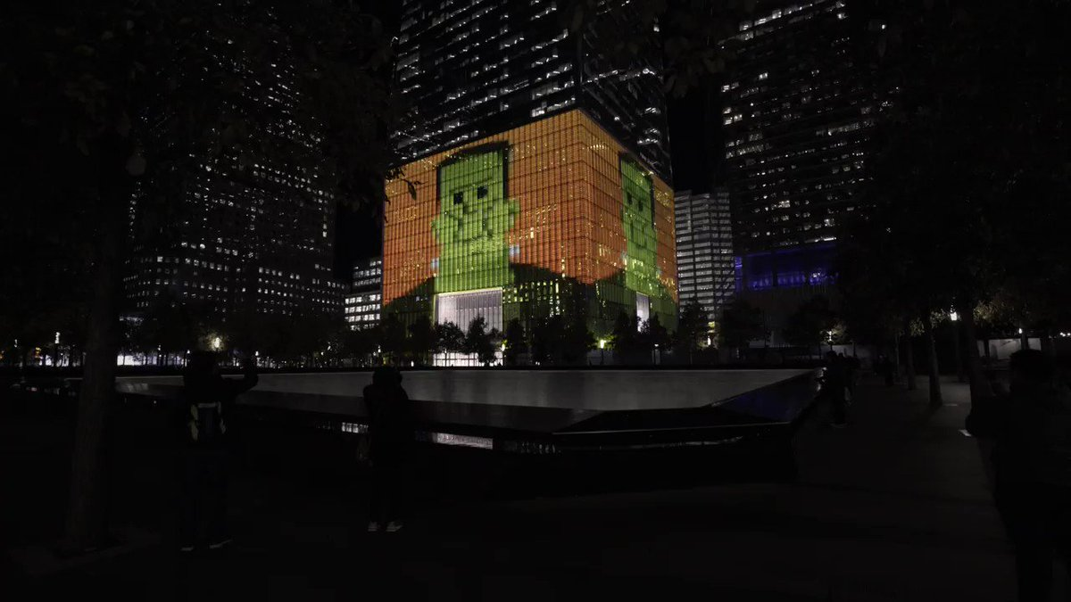 #Halloween is around the corner and were celebrating with some spooky animations on the #OneWTC podium.