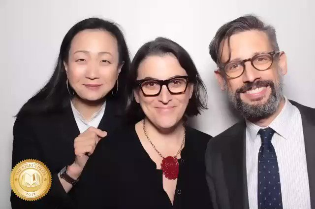 @duchessgoldblat @texasbookfest @MLabrise @KirkusReviews So instead I'll just share this .gif taken with @minjinlee11 and @lauriemuchnick at the Kirkus Prize Thursday evening.