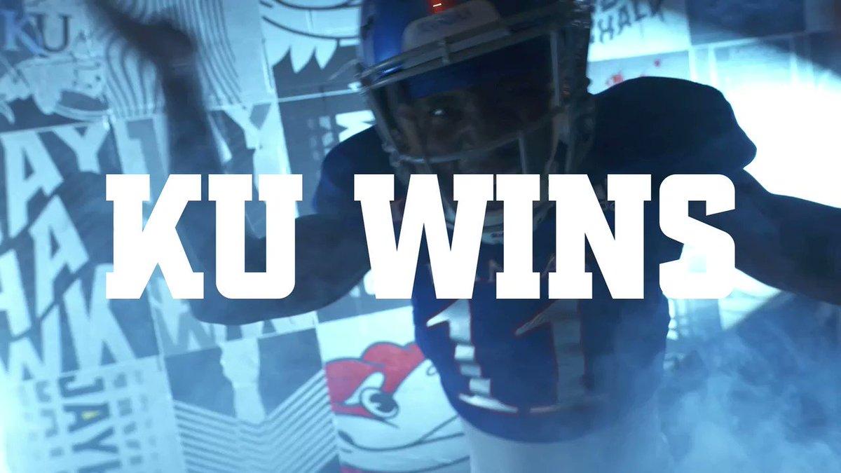 JAYHAWKS WIN IT! @KU_Football takes down Texas Tech!🔥