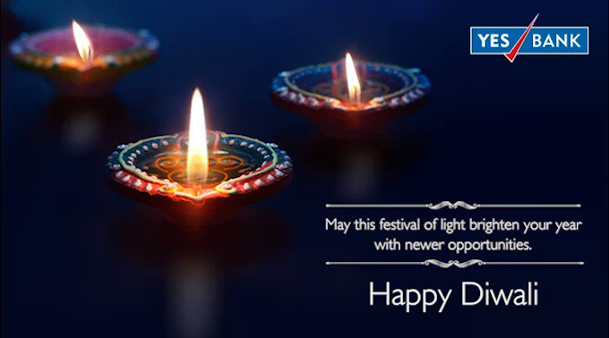 Here s wishing you love, laughter and a very HappyDiwali from all of us here at YESBANK https t.co 8lbTL63rD5
