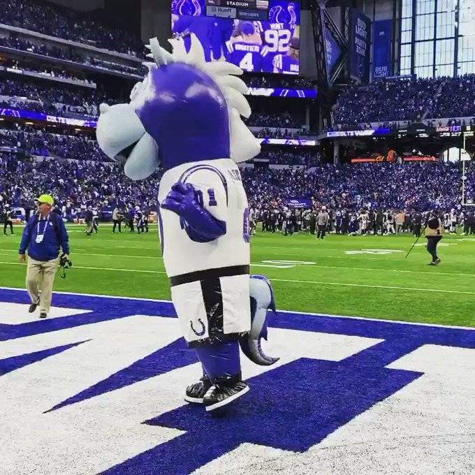 WHAT A @Colts WIN!!! Thanks @minimascot for the assist!!! https://t.co/bzg3wfzTCK